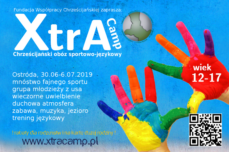 XtrA camp 2019 chrześcijański obóz sportowo-językowy